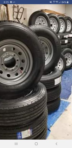 NEW TRAILER TIRES/WHEELS STARTING AT $70+TAX AND UP TIRE/RIM ASSEMBLY SEE BELOW for Sale in Douglasville, GA