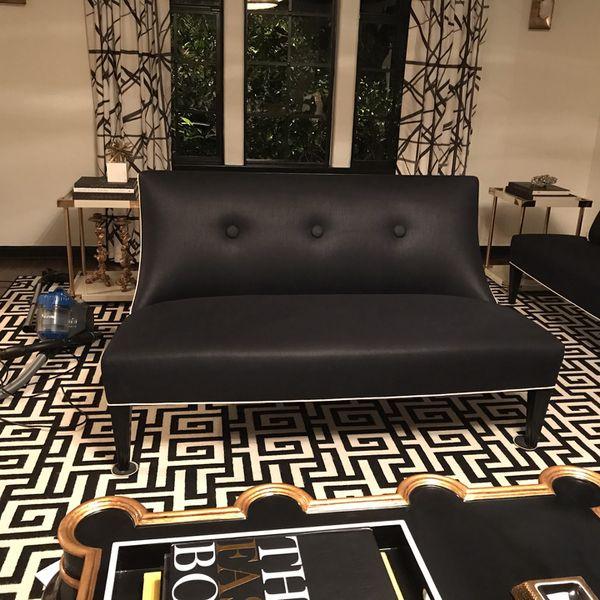 Beautiful Pair Of Black Sofas