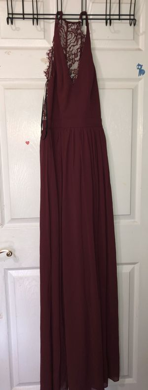 Long maroon dress for Sale in Sacramento, CA
