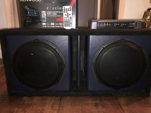 "Polyurethane Customized Box With 12"" JVC Subwoofers. for Sale in Atlanta, GA"