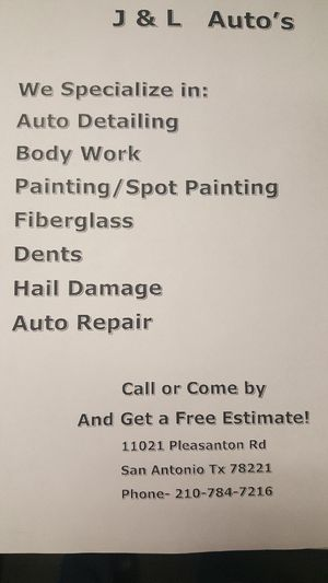 Auto and Body Work for Sale in Dallas, TX