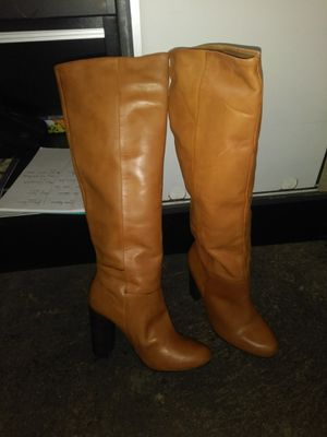 Rust color 4 inch heel leather boots for Sale in Cleveland, OH