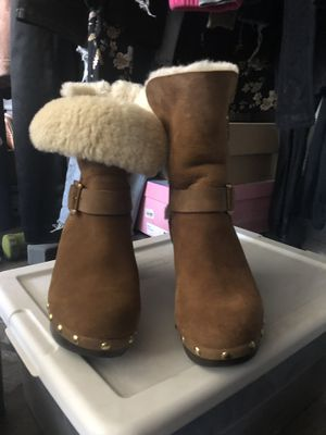 Ugg Suede Brown boots / Clog Booties Size 5 for Sale for sale  Los Angeles, CA