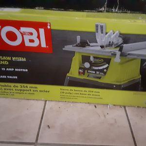 "Ryobi Table Saw W/Stand 10"" OBO for Sale in Chesapeake, VA"