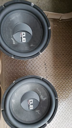 """15"""" DUB Mag Audio subwoofers(Pair) by Audiobahn for Sale in Colma, CA"""