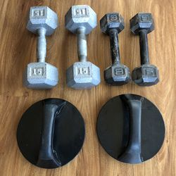 15# & 8# Dumbell Sets & push-up pro for Sale in Landrum,  SC