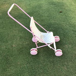"Italian Pink Doll Stroller Giocattoli Grazioli Metal Frame 1980s Collapsable 22"" Tall 9"" Wide Super Sturdy for Sale in Huntington Beach, CA"