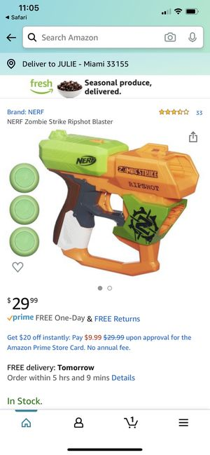NERF Zombie Toy Gun Pistola for Sale in Miami, FL