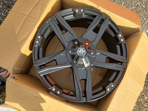 "20 INCH RIM MATTE BLACK FINISH (20x9""/5x127mm) JUST 1 RIM for Sale in Berlin, NJ"
