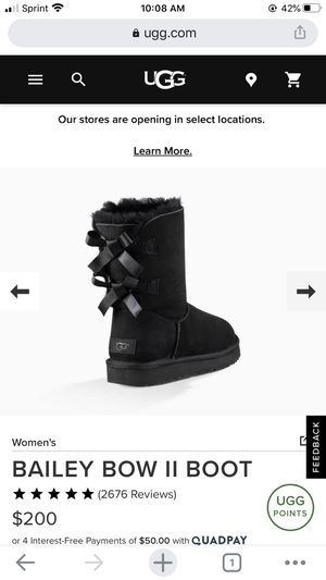 Women UGG Bailey Bow Boots for Sale in Lyons, IL