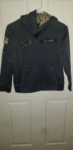 YOUTH NIKE Detroit Lions Salute to Service Hoodie SIZE MEDIUM for Sale in Taylor, MI