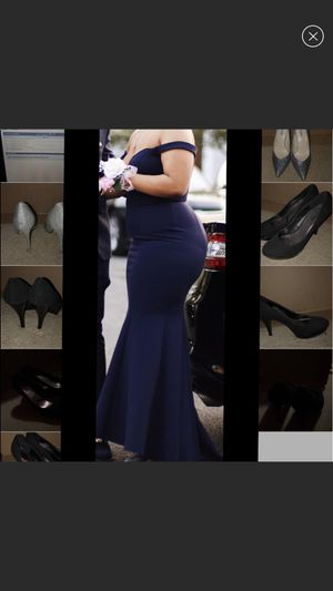 Mermaid style navy blue prom dress for Sale in Landover, MD