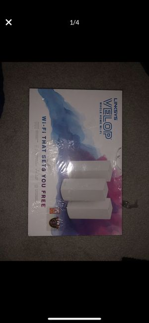 Linksys Velop Tri-Band Home Mesh WiFi System for Sale in Germantown, MD