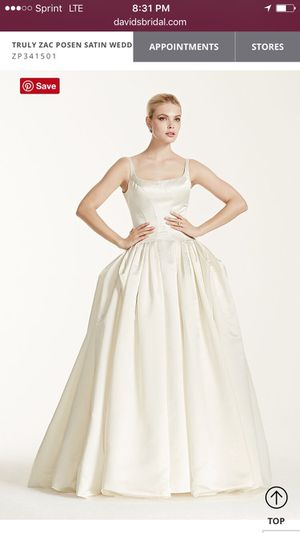 Zac Posen Satin Wedding Dress with Pleating for Sale in Charlottesville, VA