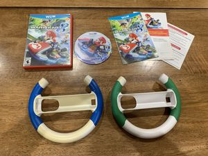 Mario Kart 8 Nintendo Wii U Game Complete w/ Manuals and 2 Wheels for Sale in Newark, CA