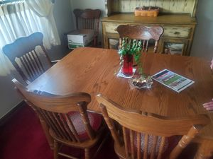 Kitchen table as good as new with six chairs . for Sale in Parma, OH