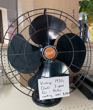 Diehl 1930s vintage 3 speed fan. for Sale in Worcester, MA