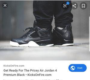 Nike Air Jordan Retro 4 IV Premium Pony Hair Size 15 for Sale in Atlanta, GA