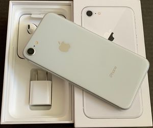 iPhone 8 64gb never used Apple warranty fully paid off clean ESN all original accessories included untouched. Tmobile, MetroPCS, simple mobile sprint for Sale in Boston, MA