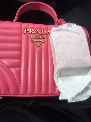 Prada Diagramme stitched leather bag for Sale in Las Vegas, NV