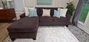Gray Queen Sofa Sleeper with Reversible Chaise - FREE DELIVERY for Sale in Tampa, FL
