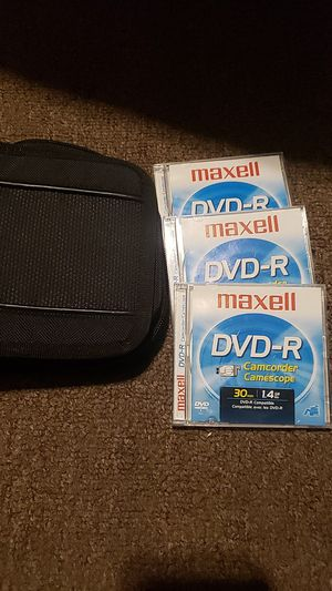 DVD-r disc and case for camcorder for Sale in Grand Rapids, MI