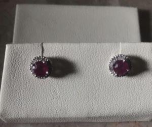 Brand new ruby diamond earrings for Sale in Woodburn, OR