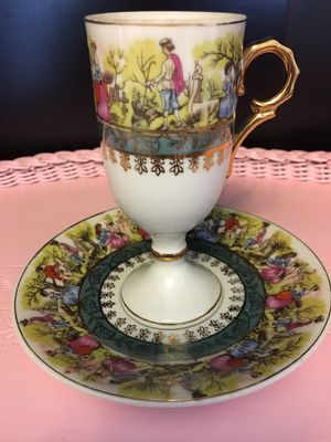 Fancy Couples Courting Vintage tea cup and saucer for Sale in Cornelius, OR