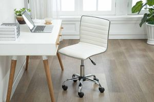 Mid-back Armless Office Chair, White, 1125-WH for Sale in Santa Ana, CA