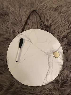 White Marble Circle White Board for Sale in Washington, DC