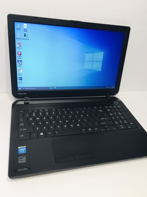"Laptop Toshiba 15.6"" 4GB Ram 500 GB HDD Webcam HDMI Windows 10 Office 2016 Photoshop Antivirus for Sale in Brandon, FL"
