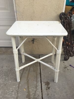 Antique white bamboo table for Sale in Costa Mesa, CA
