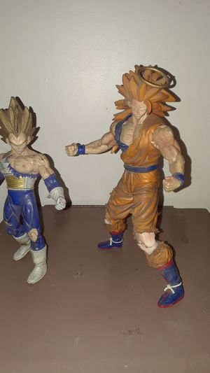 DBZ ACTION FIGURES , GOKU 24 INCHES AND VEGETA 22 INCHES BOTH FOR $40 for Sale in San Bernardino, CA