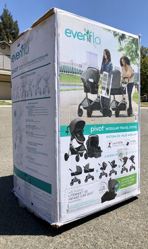 Evenflo Pivot Stroller Modular Travel System with ProSeries LiteMax Infant Car Seat for Sale in Elk Grove, CA