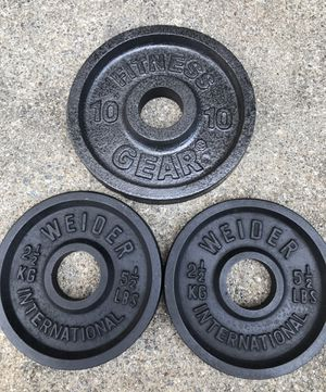 Olympic Weight Plates 21 lbs for Sale in Alpharetta, GA