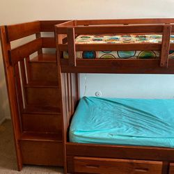 Bunk beds With Staircase And Dresser Draws for Sale in Waterford Township,  MI
