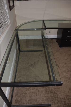 Like new glass corner desk for Sale in Rockville, MD