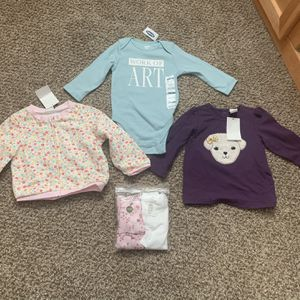 Brand New With Tags Baby Girl Tops 6-12 Months for Sale in Littleton, CO