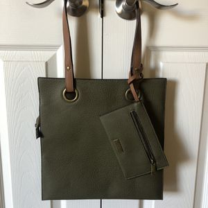 NEW Carlos Santana Olive Green Handbag Purse Tote Bag and Coin Purse for Sale in Murrieta, CA