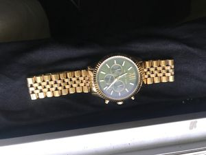 Mk gold watch traaaade gold chain for Sale in Manchester, CT