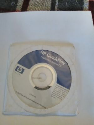 HP Quickplay application restore CD for Sale in Philadelphia, PA