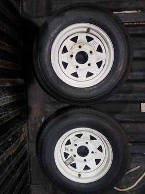 "Trailer Tires & Rims 5-30 X 12"" RIMS 5 LUG 65.00 for Sale in Stonington, CT"