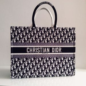 Dior Black Oblique Book Tote Bag for Sale in New York, NY