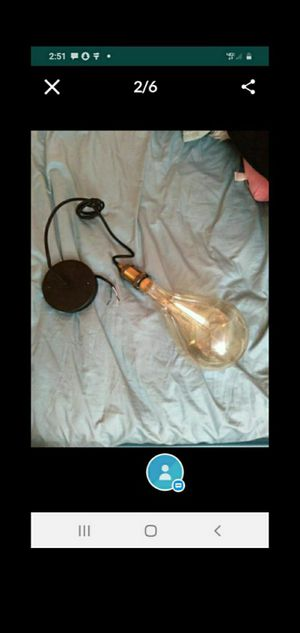 New pendant light fixture with large Vintage style bulb for Sale in Henderson, NV