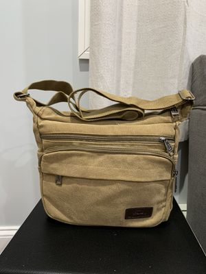Beideli Brown Canvas messenger bag for Sale in Queens, NY