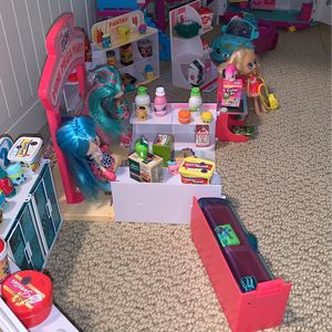 Huge Lot Of Shopkins, Shoppies, Play sets, Cars And House. All Shopkins Brand for Sale in Santa Ana, CA