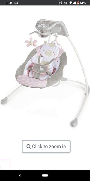 Ingenuity baby girl swing like new! for Sale in San Jose, CA