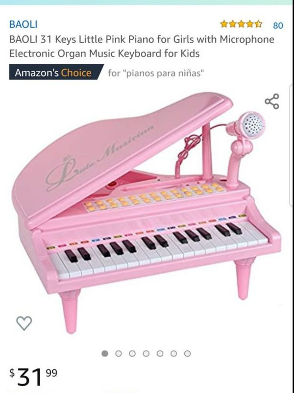 Mini piano toy and microphone with mp3