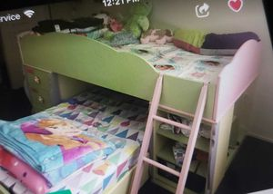 Girls Bunk Bed Frame and Dresser for Sale in Oakland, CA