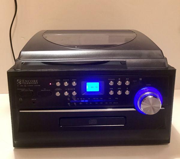 Encore Technology All in 1 Audio Stereo System FM/AM/AUX/Tape Remote Control
